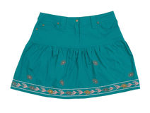 Blue skirt Royalty Free Stock Photos