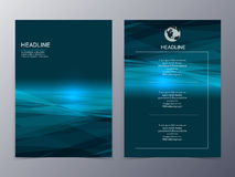 Blue technology graphic design element flyer template Royalty Free Stock Photos