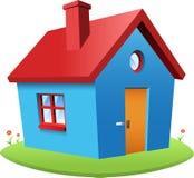 Blue vector house Stock Photo