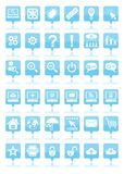 Blue web icons Royalty Free Stock Photo
