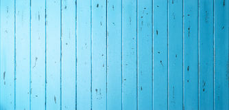Blue Wood Banner Background Stock Photography