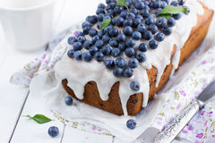 Blueberry cake with sugar icing Stock Photography