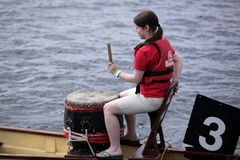Boat drummer Royalty Free Stock Photo