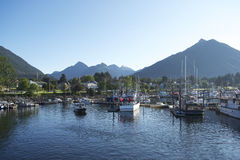 Boat Harbor in Sitka in the Fall Royalty Free Stock Photography