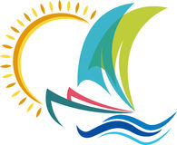 Boat logo Stock Photography