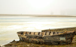 Boat on Shore Stock Photography