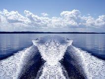 Boat wake Royalty Free Stock Photos