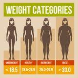 Body mass index retro poster. Royalty Free Stock Photo