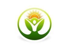Body, plant, health, botany, natural, ecology, logo, icon, symbol Royalty Free Stock Photography