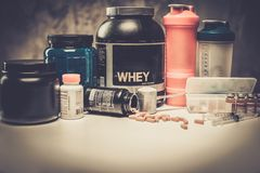 Bodybuilding nutrition Royalty Free Stock Photo