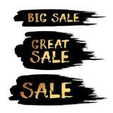Bokstäver för borste för färgpulver för Black Friday Sale abstrakt begreppvektor dragen hand Royaltyfri Foto