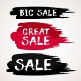Bokstäver för borste för färgpulver för Black Friday Sale abstrakt begreppvektor dragen hand Royaltyfria Bilder