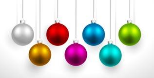 Bolas coloridas Natal Fotos de Stock
