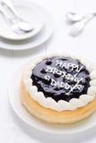 Bolo do bolo do fundo do bolo do paizinho do feliz aniversario/do paizinho feliz aniversario/do paizinho feliz aniversario no fun Fotos de Stock