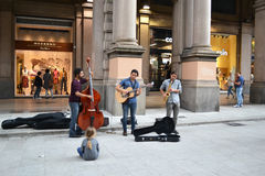 Bologna street band Stock Images