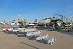 Bomben und Flugbewaffnung für Luftfahrt Lizenzfreie Stockbilder