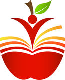 Book apple Royalty Free Stock Image