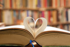Book page in heart shape Royalty Free Stock Photos
