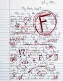 Book Report Term Paper School Essay Failing Grade Stock Photo