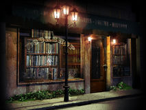 Bookshop at night Royalty Free Stock Photography