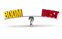 Boom Or Bust? Royalty Free Stock Images