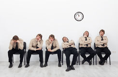 Bored people waiting Royalty Free Stock Photography