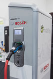 Bosch charging station at Solarexpo 2014 in Milan, Italy Royalty Free Stock Photo