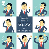 Boss character Royalty Free Stock Image