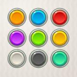 Botões coloridos do jogo Fotografia de Stock