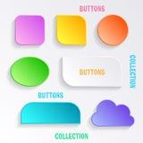 Botões com sombras Foto de Stock