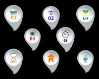 Botões da Web com sinais Fotografia de Stock