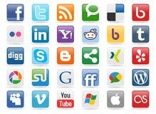 Botones sociales de los media Fotografía de archivo