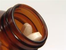 Bottiglia della vitamina Immagini Stock