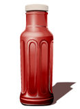 Bottle for a tomato sauce Stock Images