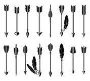 Bow arrow set. Vector Royalty Free Stock Photo