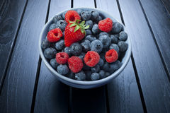 Bowl Of Summer Berries Stock Photos