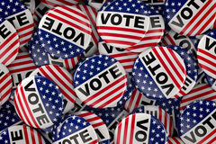 Box full of vote buttons Stock Images