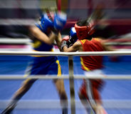 Boxing on a ring Stock Image
