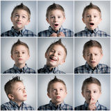 Boy expressions Stock Photo