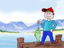 A boy fishing Royalty Free Stock Image