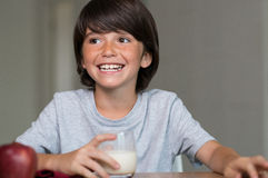 Boy having healthy breakfast Stock Photography