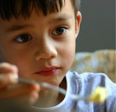 Boy with hope Stock Image