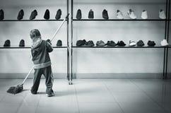 Boy with a mop Stock Photos