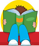 Boy reading Royalty Free Stock Image
