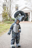 Boy wearing costume Royalty Free Stock Image