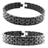 Bracelete preto para homens Foto de Stock Royalty Free
