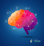Brain idea geometric info graphics design Stock Photography