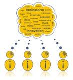 Brainstorming team Stock Images