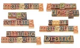 Brand, marketing, copywriting and graphic design Royalty Free Stock Photo