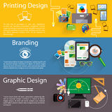 Branding, graphic and printing design icon set Stock Photography